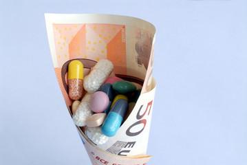 Medikamente, Euro, Kosten, Gesundheitswesen, Pharmaindustrie