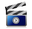 video movie clipper illustration design over a  white background