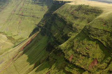 eroded slopes in Brecon Beacons National Park