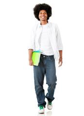 Male student walking