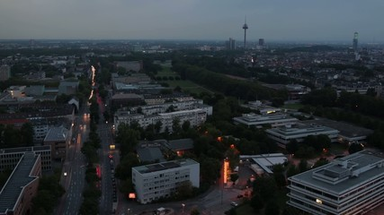 Timelapse of Cologne City with day-night change 13s