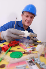 Plumber with a thermostatic radiator controller