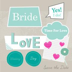 Bride scrap template