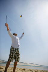 Man playing with a diabolo