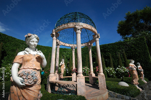 Gazebo and sculptures