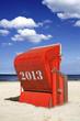 Roter Strandkorb 2013 Hochformat