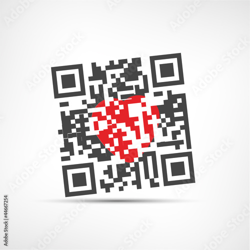 flash code et coeur de fichier vectoriel libre de droits 44667254 sur. Black Bedroom Furniture Sets. Home Design Ideas
