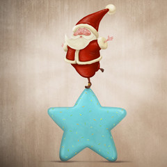 Equilibrist Santa Claus