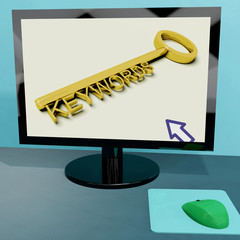 Keywords Key On Computer Shows Online Optimization
