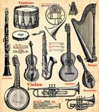 Fototapety Instruments de musique