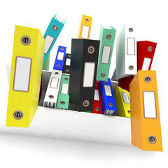 Files Falling Shows Disorganized And Chaotic Office