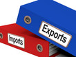 Export And Import Files Showing International Trade Or Global Co