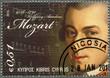 CYPRUS - 2011 : shows Wolfgang Amadeus Mozart (1756-1791)