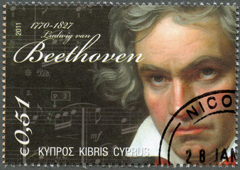 CYPRUS - 2011 : shows Ludwig van Beethoven (1770-1827)
