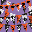 halloween bunting background