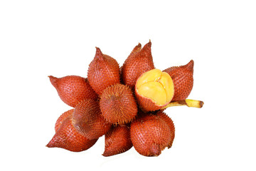 Sala or Zalacca, sweet and sour fruit from Thailand isolated on