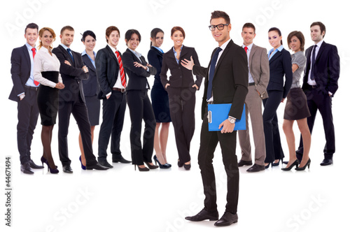 man welcoming you to his business team