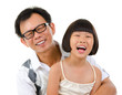 Asian girl and father