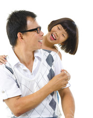 Asian girl and her father