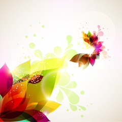 Background from colorful leaf flower
