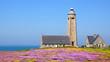Lighthouse on Cap Levi Fermanville. Brittany, France.