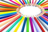 Colour pencils in creativity concept