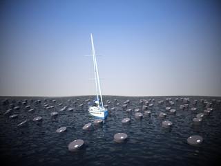 inquinamento nave barili petrolio discarica