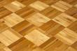 Old vintage mosaic wooden oak floor background texture