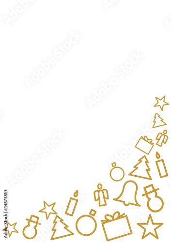 goldene weihnachtliche symbole vor wei em hintergrund von. Black Bedroom Furniture Sets. Home Design Ideas