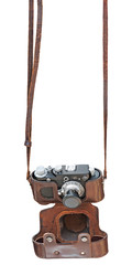 Vintage rangefinder camera. Clipping path included.