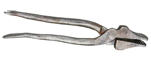 Old pliers. Clipping path included.
