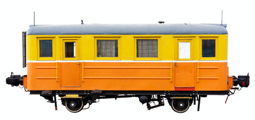 Old train. Clipping path included.