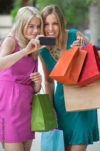 Shopaholic Women Taking Selfportrait