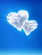 Clouds — as hearts. Heavenly love