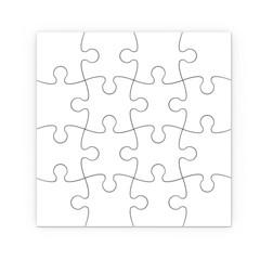rompecabezas blanco. Puzzle aislado con trazado de recorte