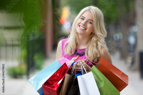 Happy Shopaholic Woman