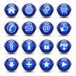 Web Buttons / Icons Dunkelblau