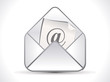 abstract shiny mail icon