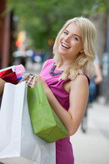 Excited Shopaholic Woman