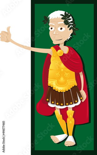 Funny Julius Caesar Thumbs Up