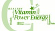 Vitamin healthy power energy bio word tag cloud video