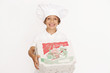 kleiner Junge mit Pizzakartons