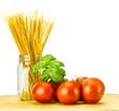 Tomatoes basil and pasta