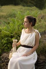 Greek girl with vase
