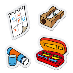 School and education objects, vector illustration
