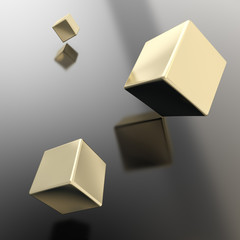 Abstract copyspace background of cubes above surface