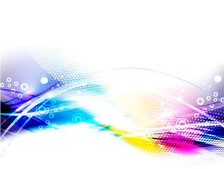 abstract colorful wave background