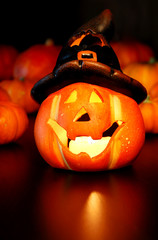Halloweenkürbislaterne