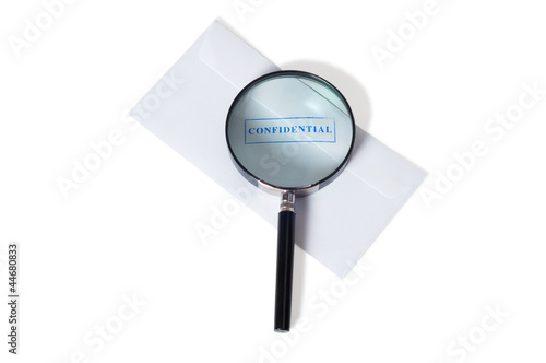 confidential envelope isolated