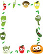 Funny Vegetables Vector Frame
